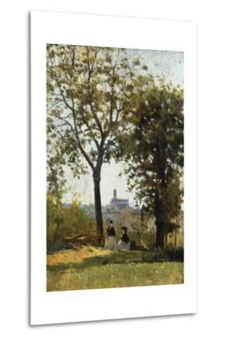 Monte Alle Croci (Hill of San Miniato), C. 1870-Silvestro Lega-Metal Print