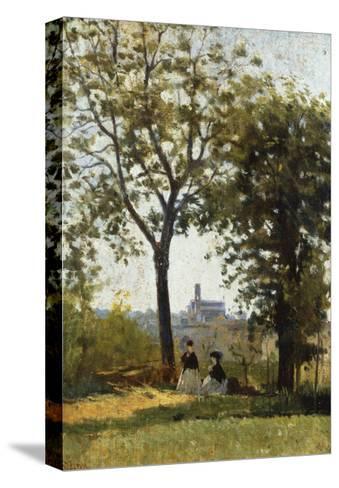 Monte Alle Croci (Hill of San Miniato), C. 1870-Silvestro Lega-Stretched Canvas Print