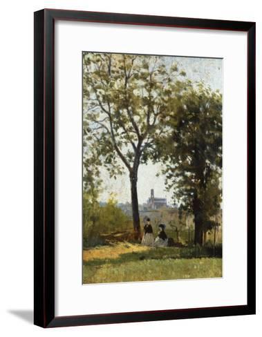 Monte Alle Croci (Hill of San Miniato), C. 1870-Silvestro Lega-Framed Art Print