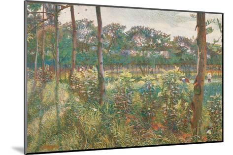 Lombard Countryside, 1908-Umberto Boccioni-Mounted Giclee Print
