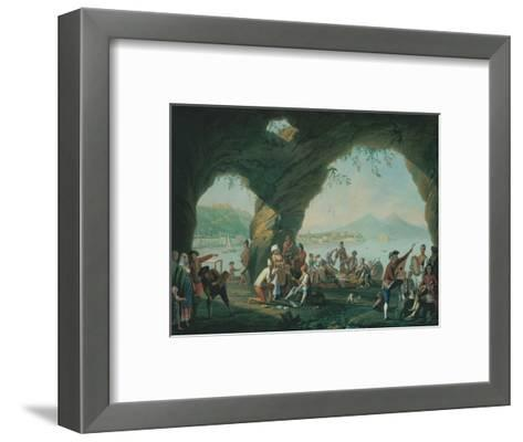 Everyday Life in a Cave in Posillipo, Near Naples Italy-Pietro Fabris-Framed Art Print