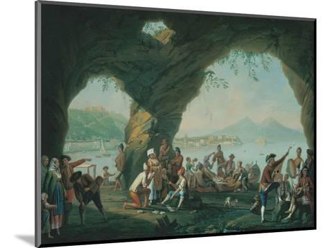 Everyday Life in a Cave in Posillipo, Near Naples Italy-Pietro Fabris-Mounted Giclee Print