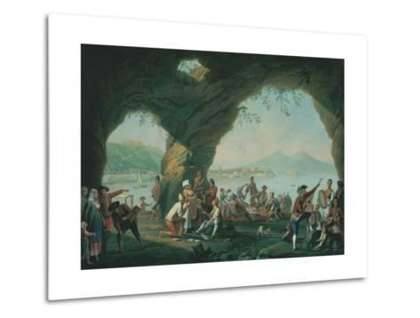 Everyday Life in a Cave in Posillipo, Near Naples Italy-Pietro Fabris-Metal Print