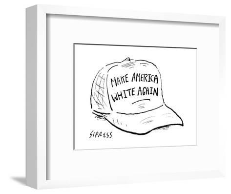 Make America White Again - Cartoon-David Sipress-Framed Art Print