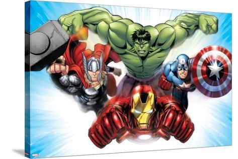 Avengers Assemble - Situational Art--Stretched Canvas Print