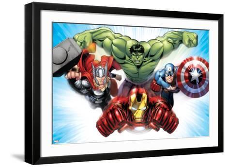 Avengers Assemble - Situational Art--Framed Art Print
