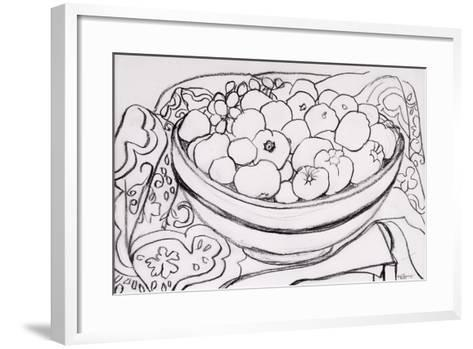 Quince in a Large Bowl, 2000-Joan Thewsey-Framed Art Print