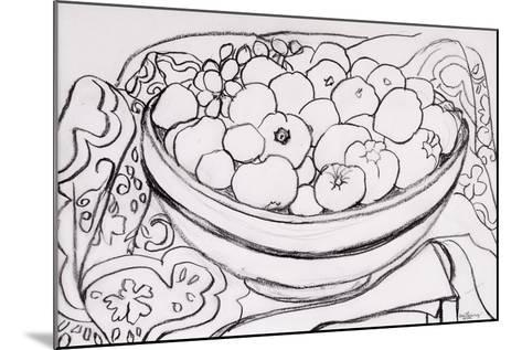Quince in a Large Bowl, 2000-Joan Thewsey-Mounted Giclee Print