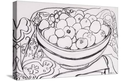 Quince in a Large Bowl, 2000-Joan Thewsey-Stretched Canvas Print