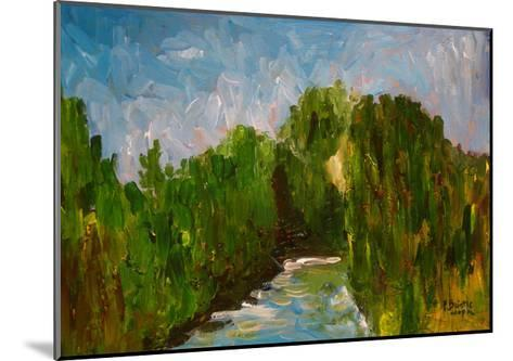Winding River, 2009-Patricia Brintle-Mounted Giclee Print