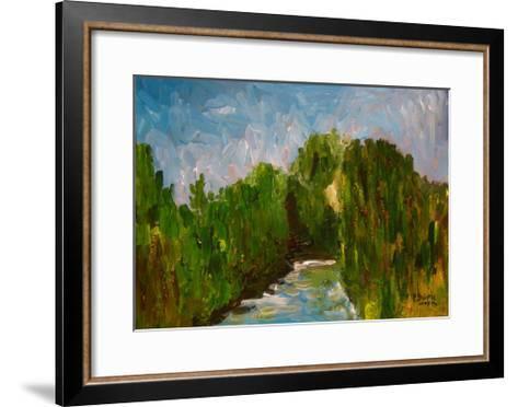 Winding River, 2009-Patricia Brintle-Framed Art Print