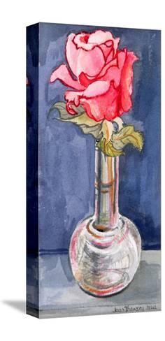 Pink Rose in a Bud Vase, 2000-Joan Thewsey-Stretched Canvas Print