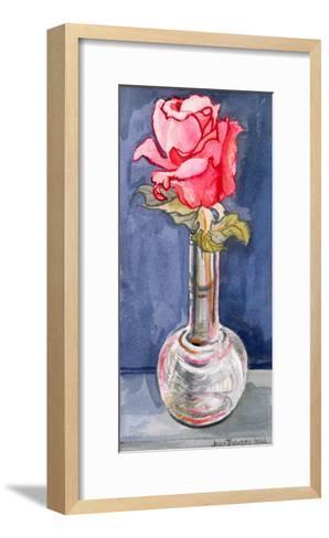 Pink Rose in a Bud Vase, 2000-Joan Thewsey-Framed Art Print