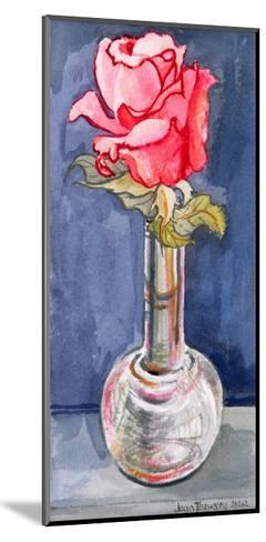 Pink Rose in a Bud Vase, 2000-Joan Thewsey-Mounted Giclee Print