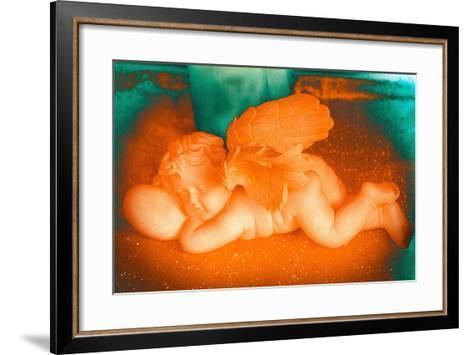 Golden Cherub, 2016-Joy Lions-Framed Art Print