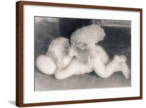 Sleeping Cherub, 2016-Joy Lions-Framed Art Print