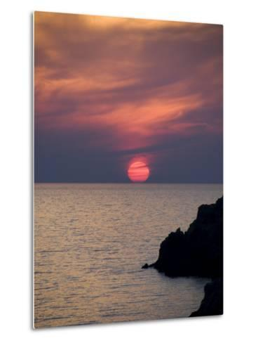 Sunset, Assos, Kefalonia (Cephalonia), Ionian Islands, Greece-R H Productions-Metal Print