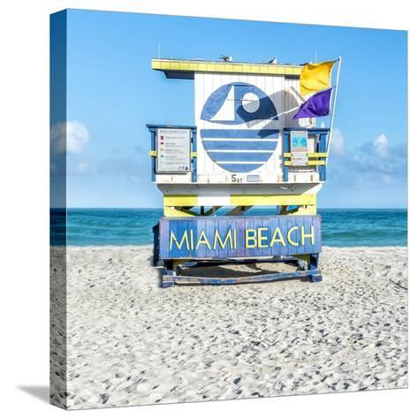Miami Beach II-Richard Silver-Stretched Canvas Print