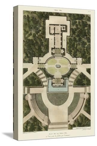 Plan De La Villa Pia-Bonnard-Stretched Canvas Print