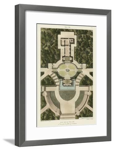 Plan De La Villa Pia-Bonnard-Framed Art Print