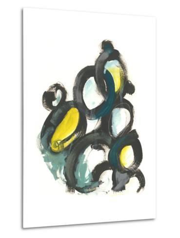 Linked Ovals I-June Vess-Metal Print