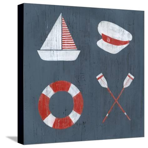 Nautical Quadrant II-Grace Popp-Stretched Canvas Print