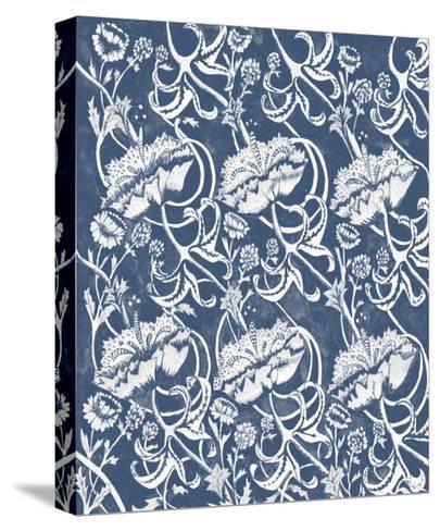 Indigo Floral Chintz II-Naomi McCavitt-Stretched Canvas Print