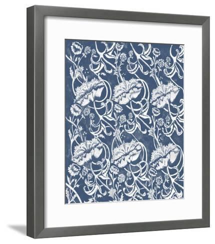 Indigo Floral Chintz II-Naomi McCavitt-Framed Art Print