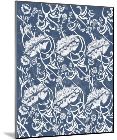 Indigo Floral Chintz II-Naomi McCavitt-Mounted Art Print