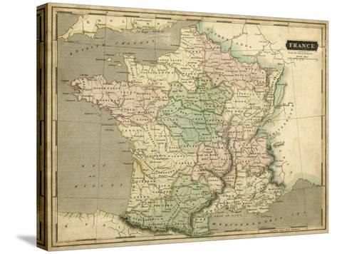Thomson's Map of France-Thomson-Stretched Canvas Print