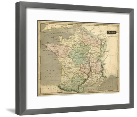 Thomson's Map of France-Thomson-Framed Art Print