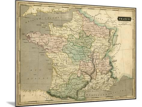 Thomson's Map of France-Thomson-Mounted Art Print
