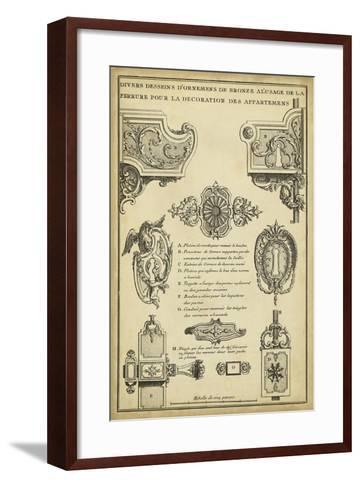 Antique Decorative Locks II-J^F^ Blondel-Framed Art Print