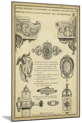 Antique Decorative Locks II-J^F^ Blondel-Mounted Art Print