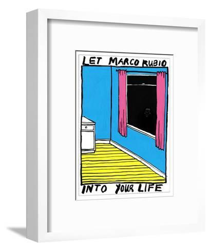 Marco Rubio - Cartoon-Edward Steed-Framed Art Print