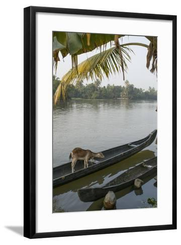 A Goat Waits on a Canoe Until its Owner Returns-Kelley Miller-Framed Art Print