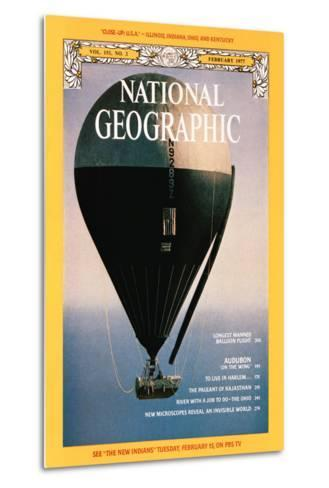 Cover of the February, 1977 National Geographic Magazine-Otis Imboden-Metal Print
