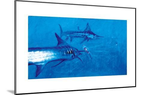 Two Striped Marlin and Three Pelagia Jellyfish, 2004-Stanley Meltzoff-Mounted Giclee Print