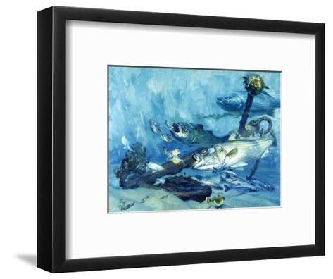 Stripers at Anchor, Chesapeake Bay, 1985-Stanley Meltzoff-Framed Art Print