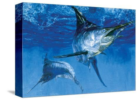 Blue Marlin In: Double Header, 1976-Stanley Meltzoff-Stretched Canvas Print
