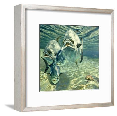 Four Permit and Coral Crab, 1987-Stanley Meltzoff-Framed Art Print