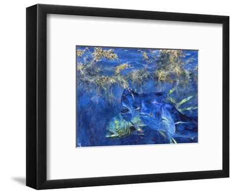 Dolphin Cruising the Weed Line, 1985-Stanley Meltzoff-Framed Art Print