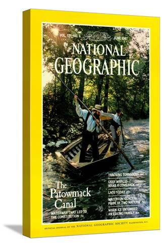 Cover of the June, 1987 National Geographic Magazine-Kenneth Garrett-Stretched Canvas Print