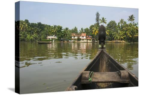 A View of the Backwaters from a Handcrafted Canoe-Kelley Miller-Stretched Canvas Print
