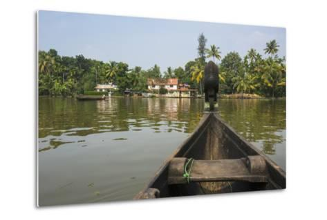 A View of the Backwaters from a Handcrafted Canoe-Kelley Miller-Metal Print