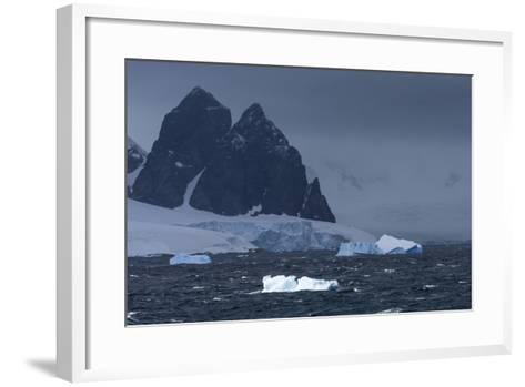 Icebergs and Mountains Near Cuverville Island, Antarctica-Ralph Lee Hopkins-Framed Art Print