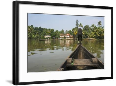A View of the Backwaters from a Handcrafted Canoe-Kelley Miller-Framed Art Print