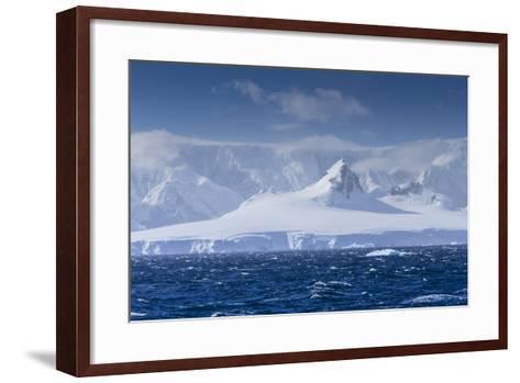 Icebergs and Mountains Near Cuverville Island, Antarctica-Ralph Lee Hopkins-Framed Art Print