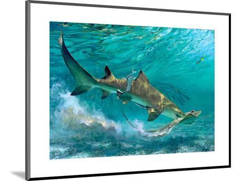 Lemon Shark and Ray, 1992-Stanley Meltzoff-Mounted Giclee Print