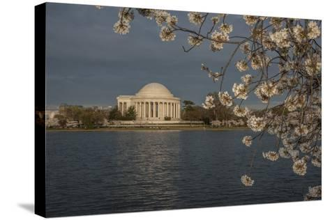 The Jefferson Memorial on the Edge of the Tidal Basin-Cristina Mittermeier-Stretched Canvas Print